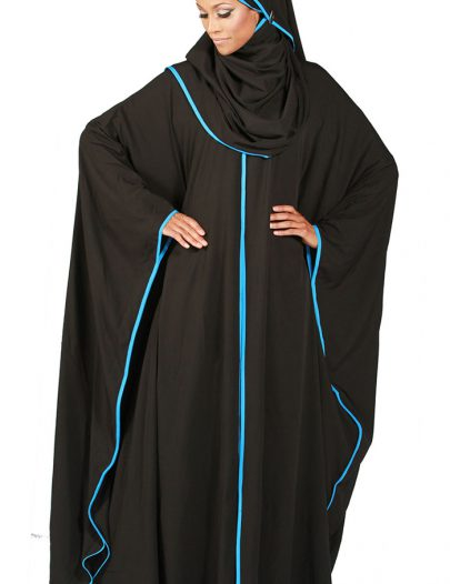 Butterfly Kaftan Abaya With Hijab Included Black