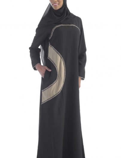 Everyday Black Abaya With Pockets Black