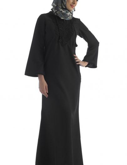 Black Hooded Abaya