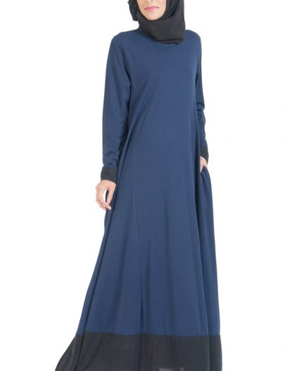 Everyday Knit Maxi Dress Abaya Navy