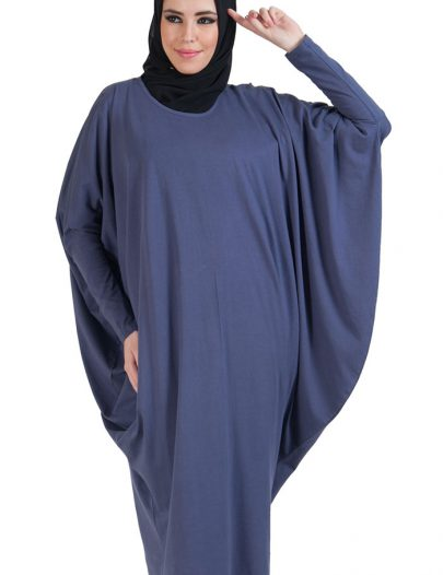 Batwing Extra Long Basic Tunic Purple