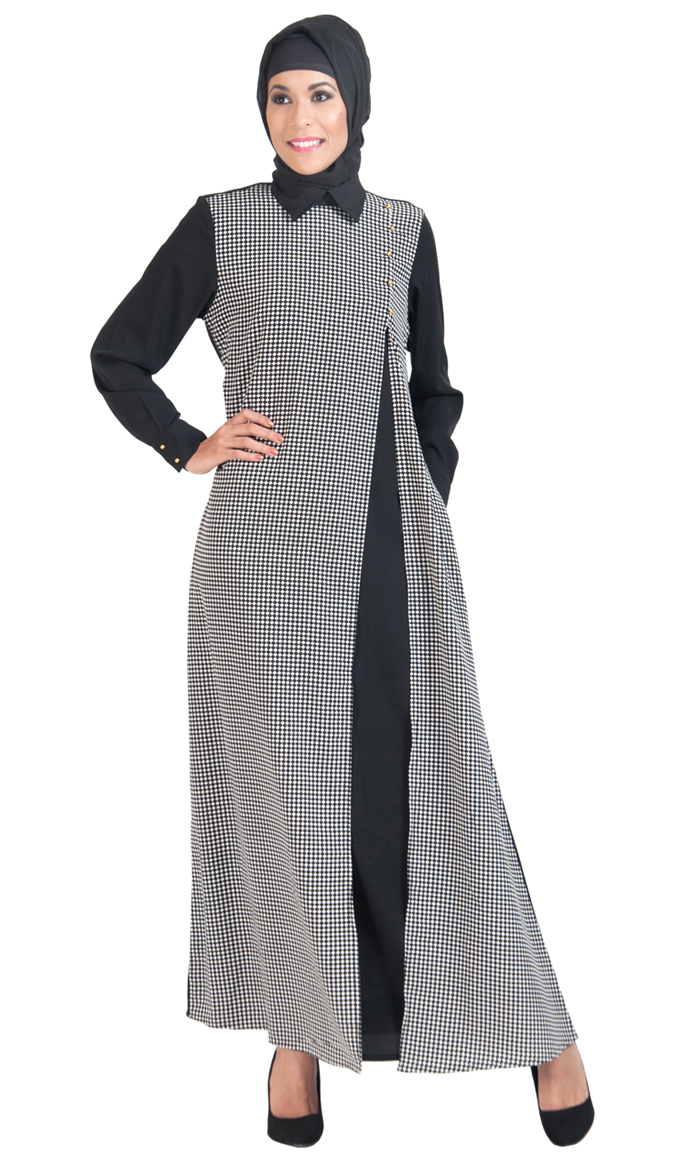 0a8a2998f32de9 Jordan Double Layer Abaya Dress Shop at Discount Price - Islamic Clothing