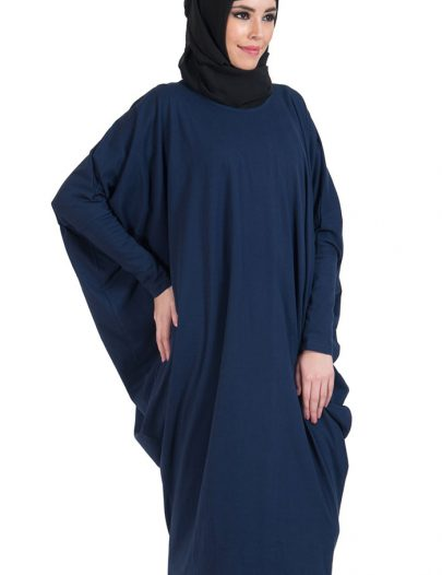 Batwing Extra Long Basic Tunic Navy