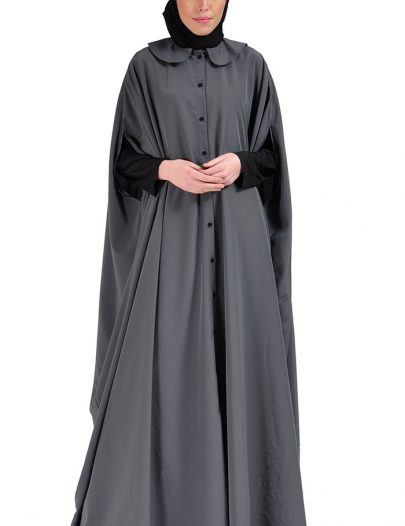 Cape Jilbab Dress Dark Grey