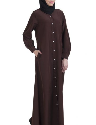 Basic Abaya Brown