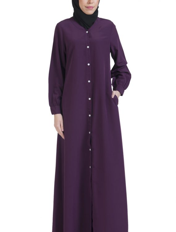 Basic Abaya Purple