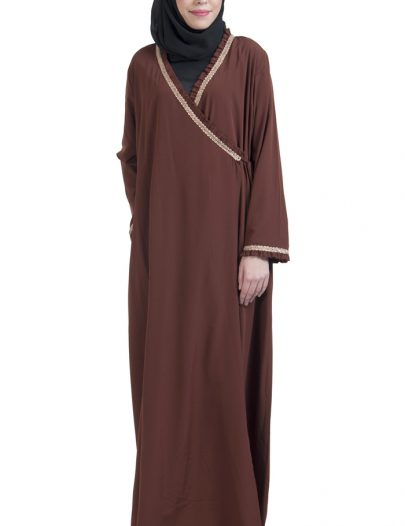Wrap Around Everyday Abaya Brown