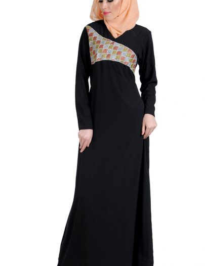 Fall Embroidered Dress Abaya