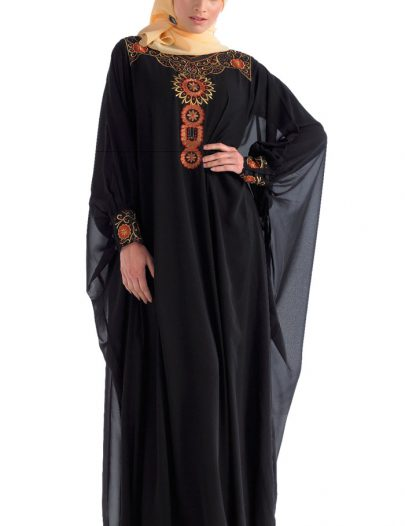 Slip On Designer Kaftan Black