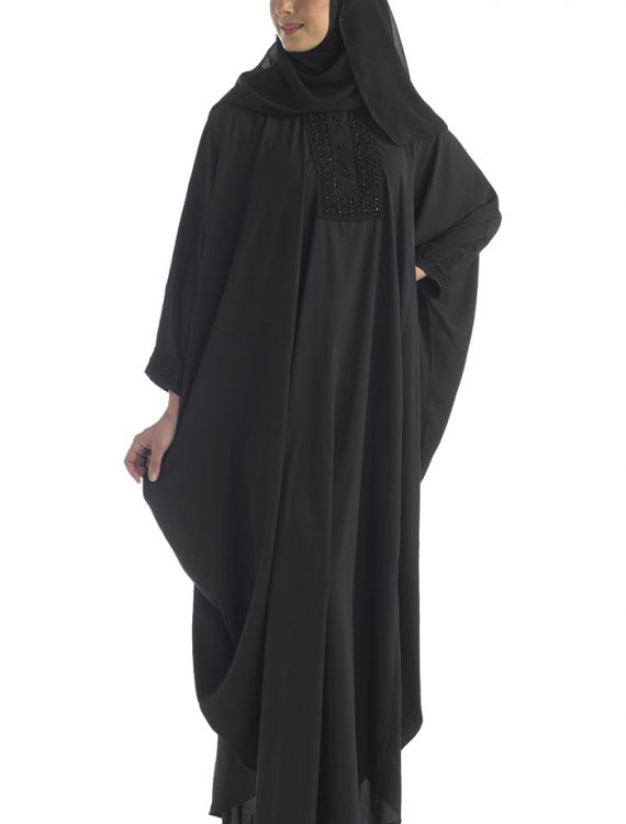 Beaded Black Kaftan Black