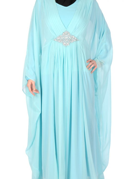 Arabian Kaftan With Silver Detail Black