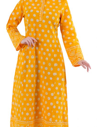 Printed Cotton Kaftan-Final Sale