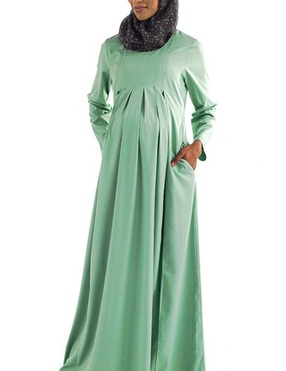 Lara Pleated Maternity Abaya Black