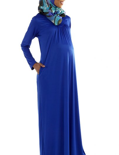Saeda Maternity Abaya Royal Blue