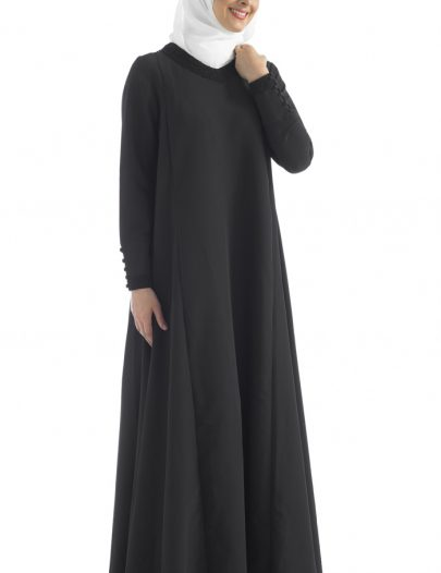Evening Wear Celebration Abaya Gown Black