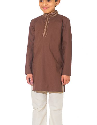 Mahmoud Cotton Boy's Kurta Set Black
