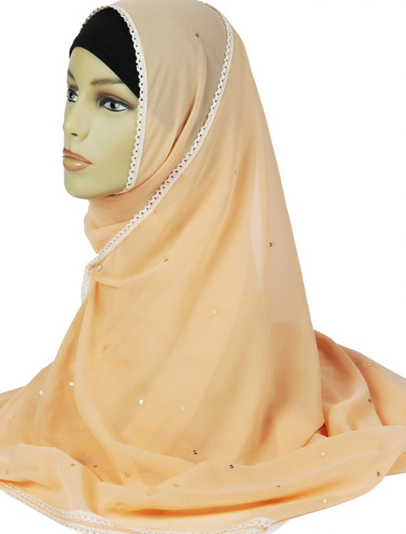 Peach Georgette Hijab