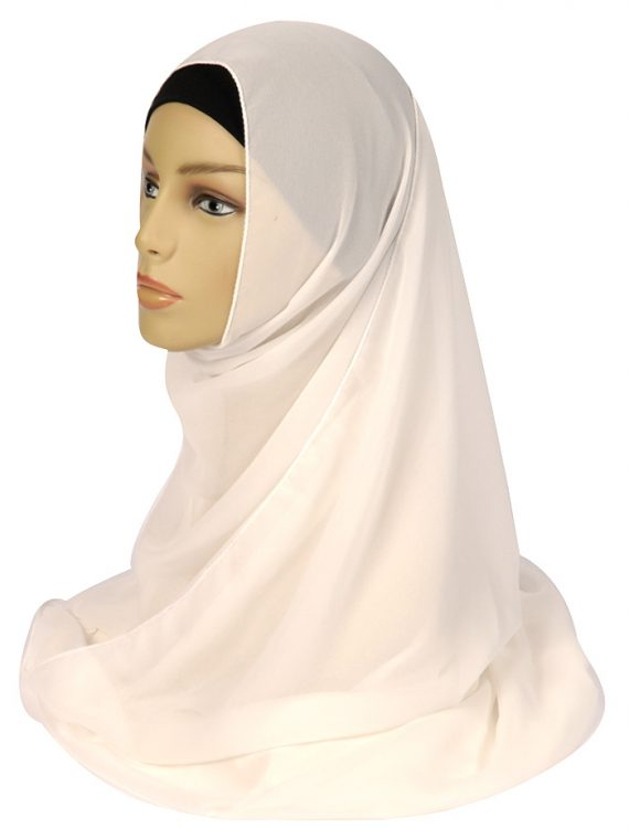 White Georgette Hijab