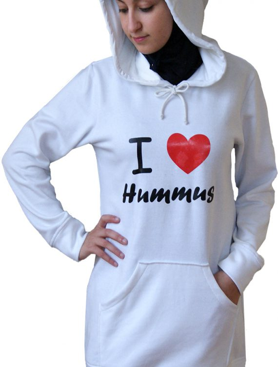 Proud2b Hummus Hoodie Heather Grey
