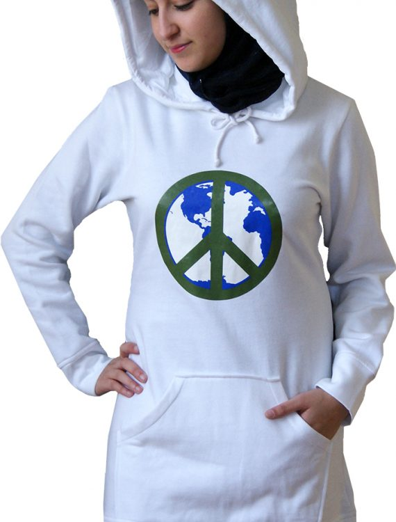 Proud2b Peace Hoodie Heather Grey