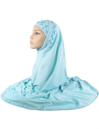 Aqua Marine Embroidered 2 Piece Al-Amirah Hijab