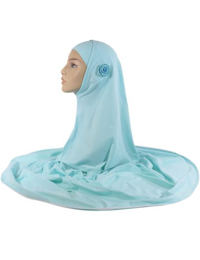 2 Piece Aqua Marine Al-Amirah Hijab With White Trim