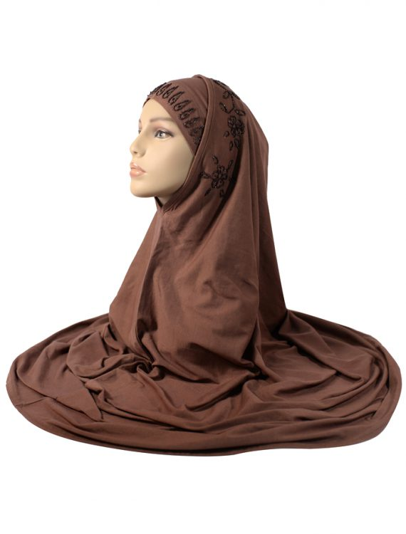 Brown 2 Piece Sequins Al- Amira Hijab