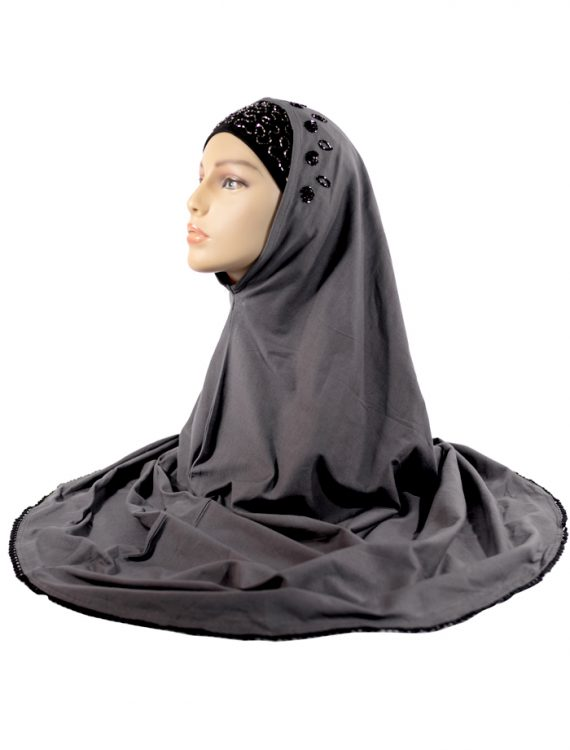 Black And Grey Al-Amirah Hijab