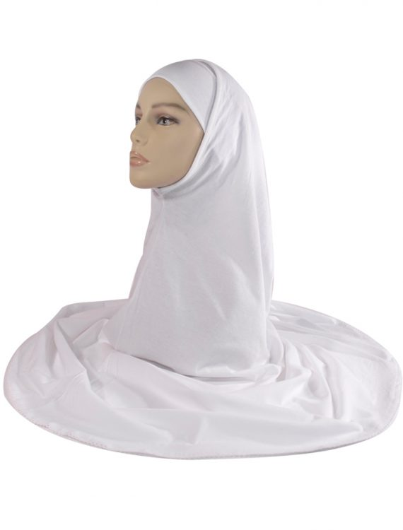 2 Piece White Cotton Hijab