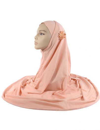 Peach 2 Piece Cotton Al-Amirah Hijab