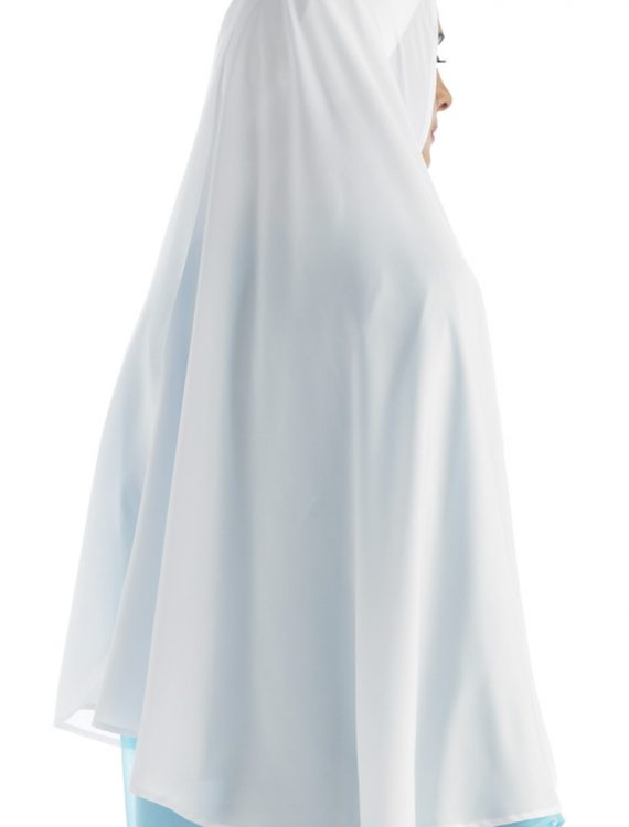 White Poly Crepe Short Khimar