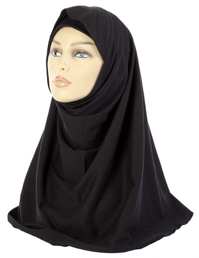 Short Black Khimar Black