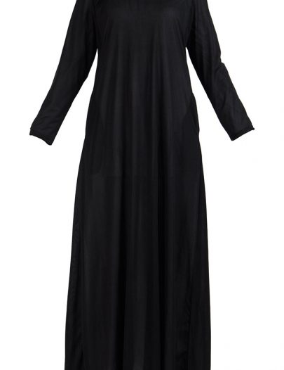 Full Length Black Polyester Under Dress Lining Slip Black