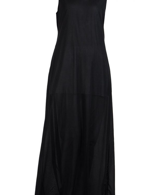 Sleeveless Full Length Black Polyester Under Dress Slip Black