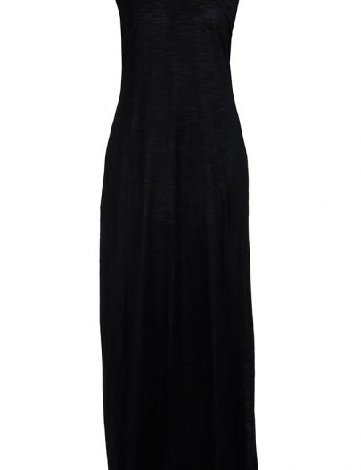 Sleeveless Full Length Viscose Knit Black Under Dress Slip Black