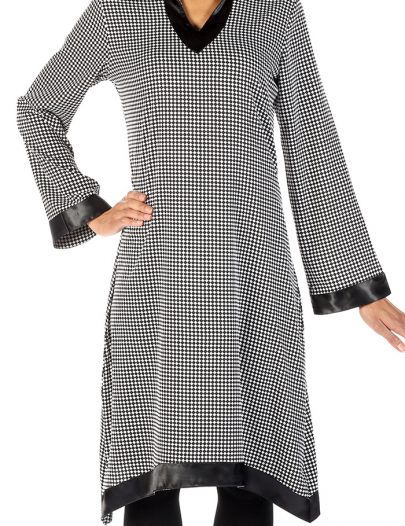 Subhah Checker Flag Print Tunic