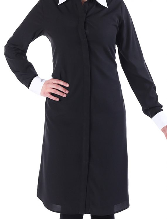 Zariya Double Pleated Crepe Tunic Black