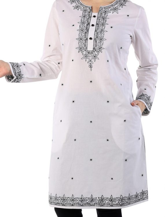 Beautiful Cotton Embroidered Spring Tunic