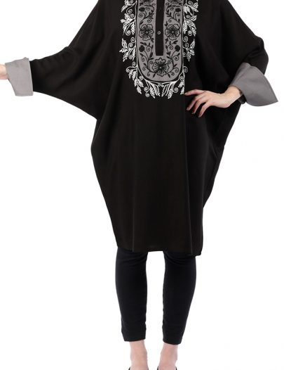Black & White Embroidered Spring Tunic