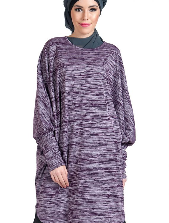 Bat Wing Viscose Knit Tunic