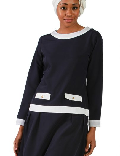 Nautical Dressy Tunic Black