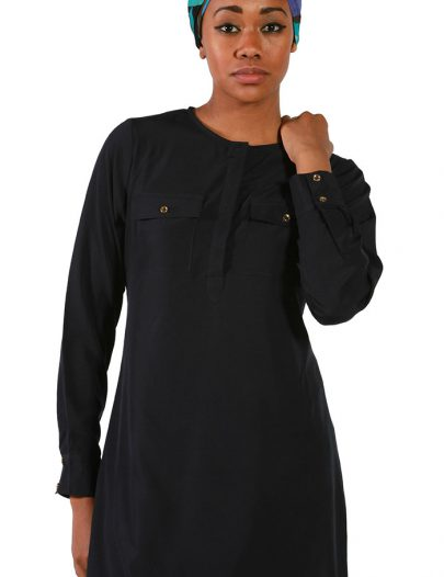 Navy Crepe Tunic Navy