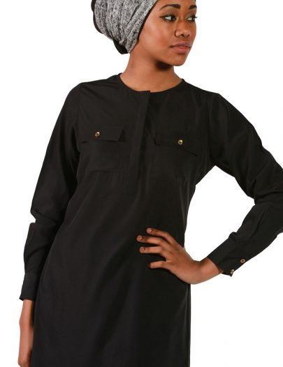 Black Crepe Tunic