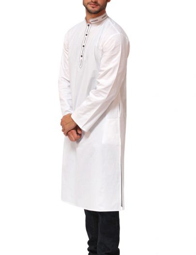 Mens Cotton Kurta Black