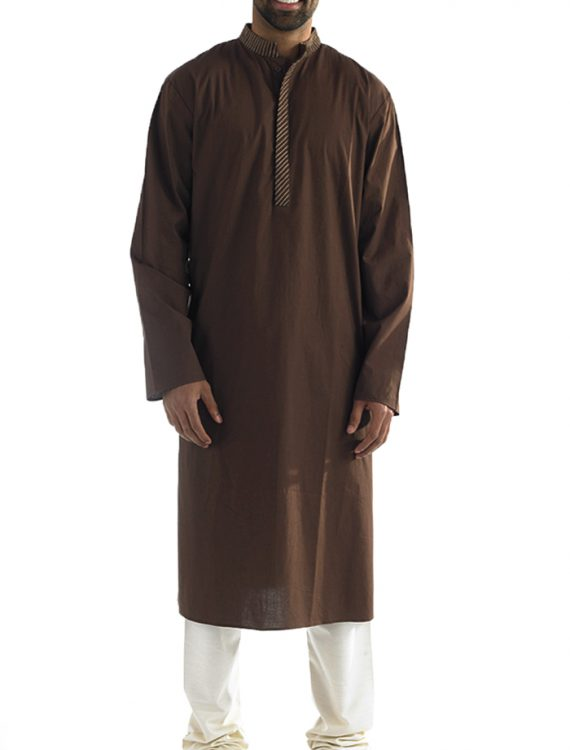 Mahmoud Cotton Mens Kurta Black