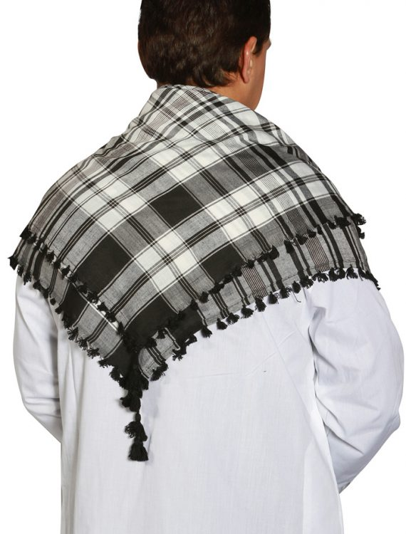 Black &White Ali Shoulder Scarf