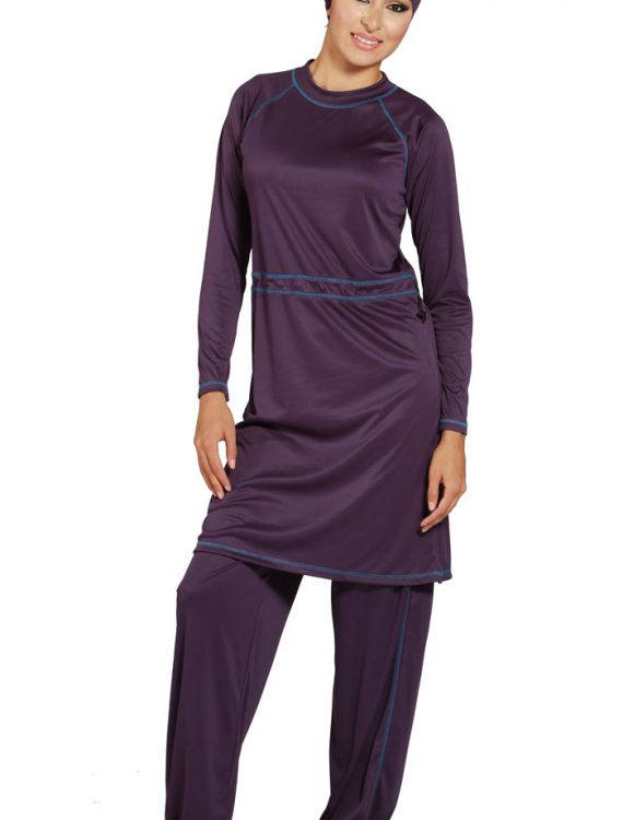 Plum Burqini Swimsuit Purple