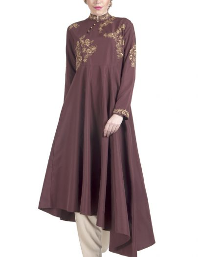 Three Piece Tunic Set Dress Maroon