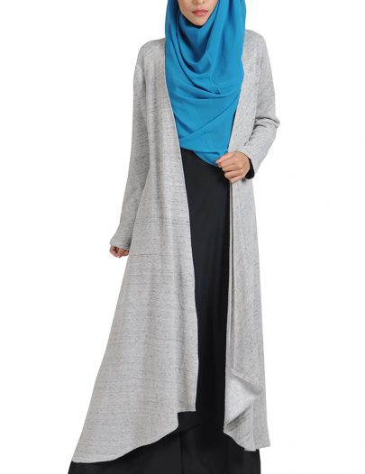 Fleece Melange Shrug Grey