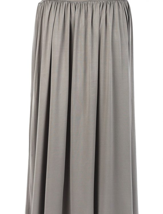 Grey Everyday Flowy Skirt Grey
